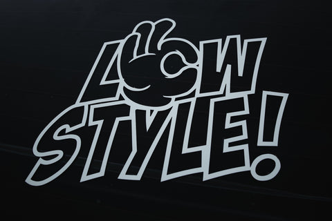 "25cm ""LOW STYLE!"" DIE CUT STICKER"