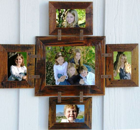 multiple picture frames wood. Reclaimed BarnWood Family Collage Rustic Picture Frame 1-8\ Multiple Frames Wood
