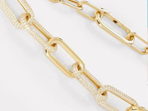 Golden Chain Link Necklace