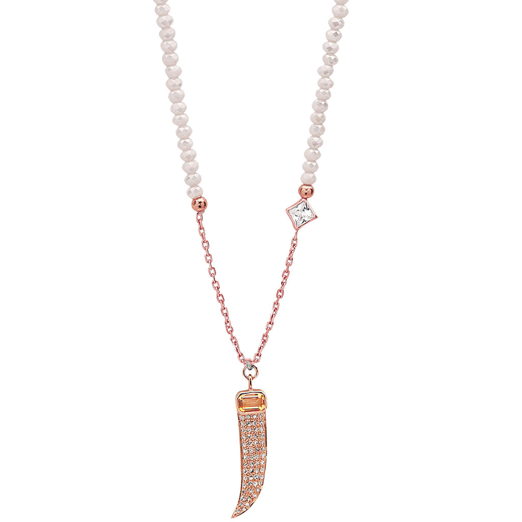Womens Designer CT Diamond Claw Necklace
