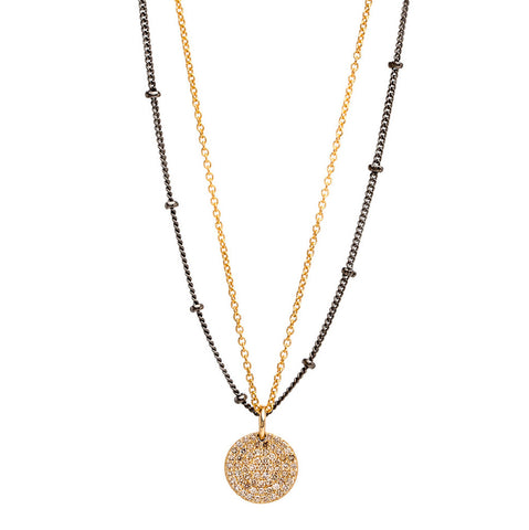 Coin Diamond Necklace