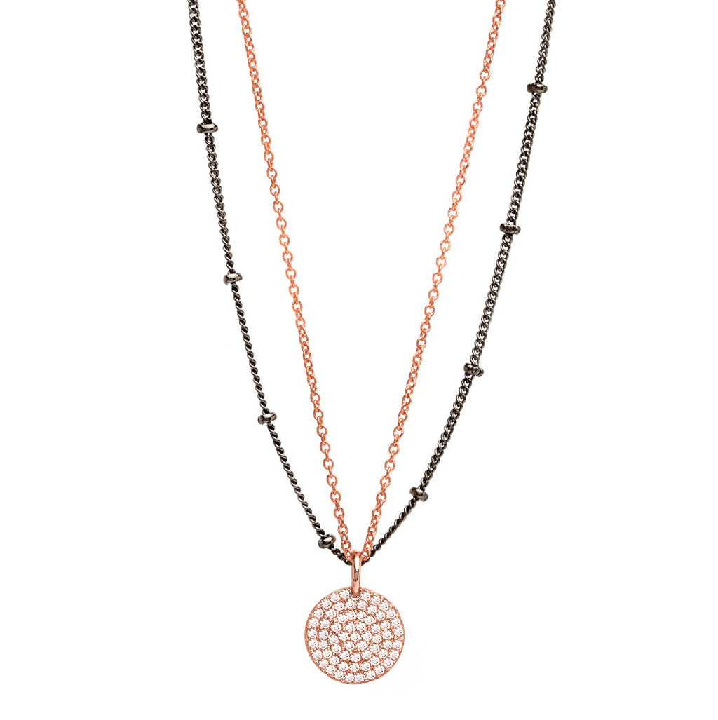 14K Rose Gold Rhodium-Plated Diamond Necklace Nickho Rey Eom5Cn9Dw
