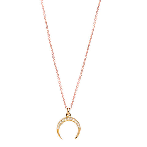 Crescent Diamond Necklace