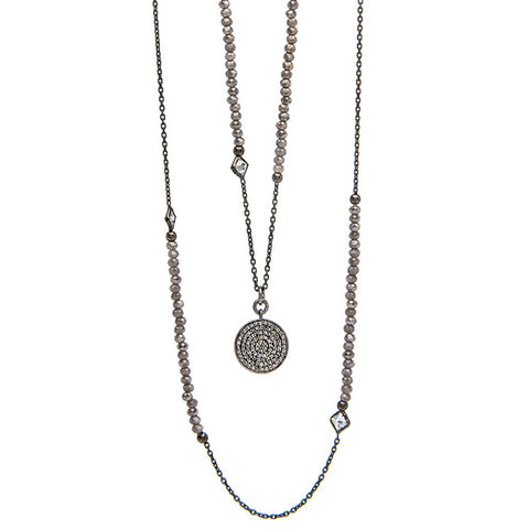 Lab Diamond Disc Necklace