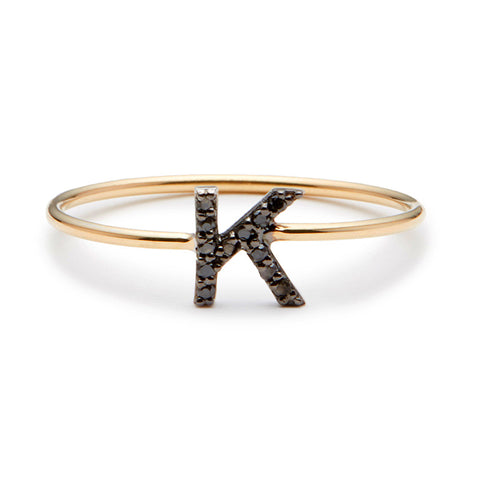Alphabet Diamond Ring