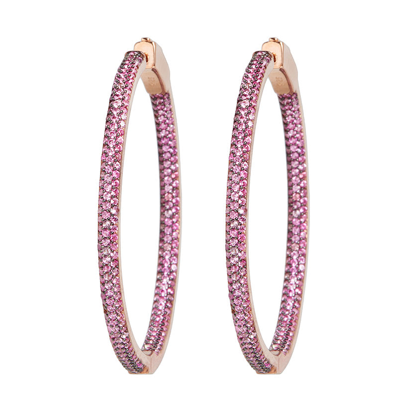 Slim Tire Hoop Earrings