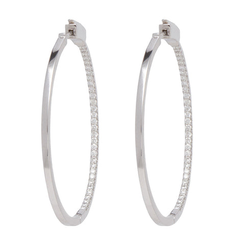 Slim Tire Diamond Hoop