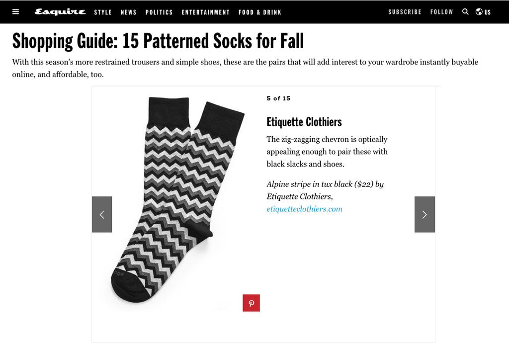 Favorite Patterned Socks from Fall