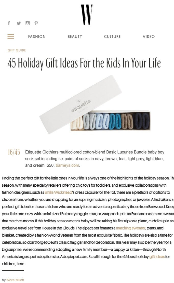 W Magazine - Holiday Gift Ideas For Kids
