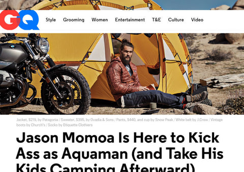 Jason Momoa Is Here to Kick Ass as Aquaman (and Take His Kids Camping Afterward)