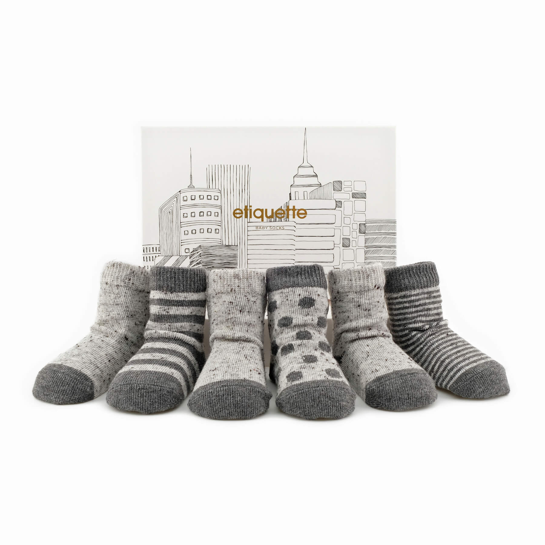 Barneys x Etiquette NY Baby Socks Bundle - Grey