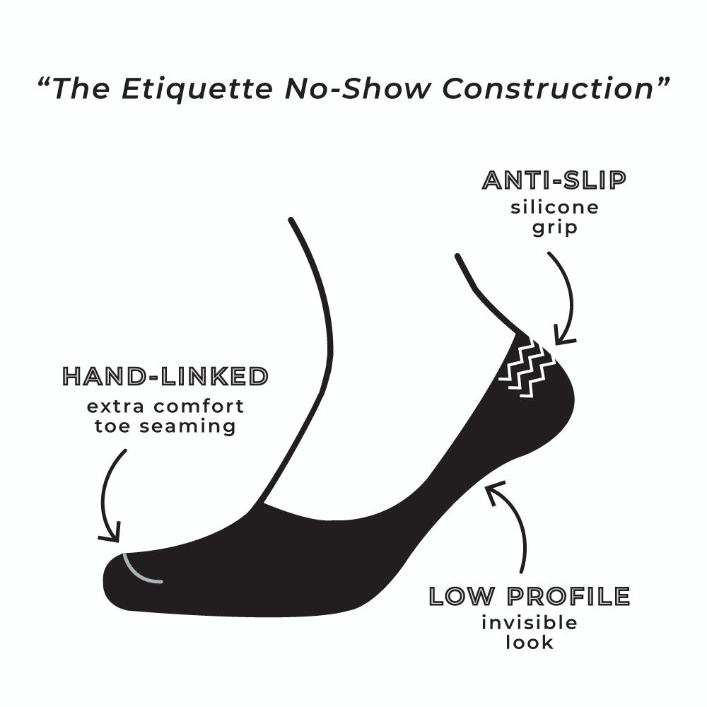 No Show - Black - Mens Socks | Etiquette Clothiers Global Official