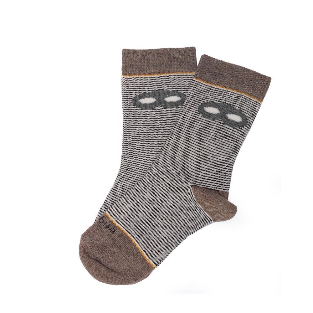 Atsuyo et Akiko Mille - Brown - Kids Socks | Etiquette Clothiers Global Official
