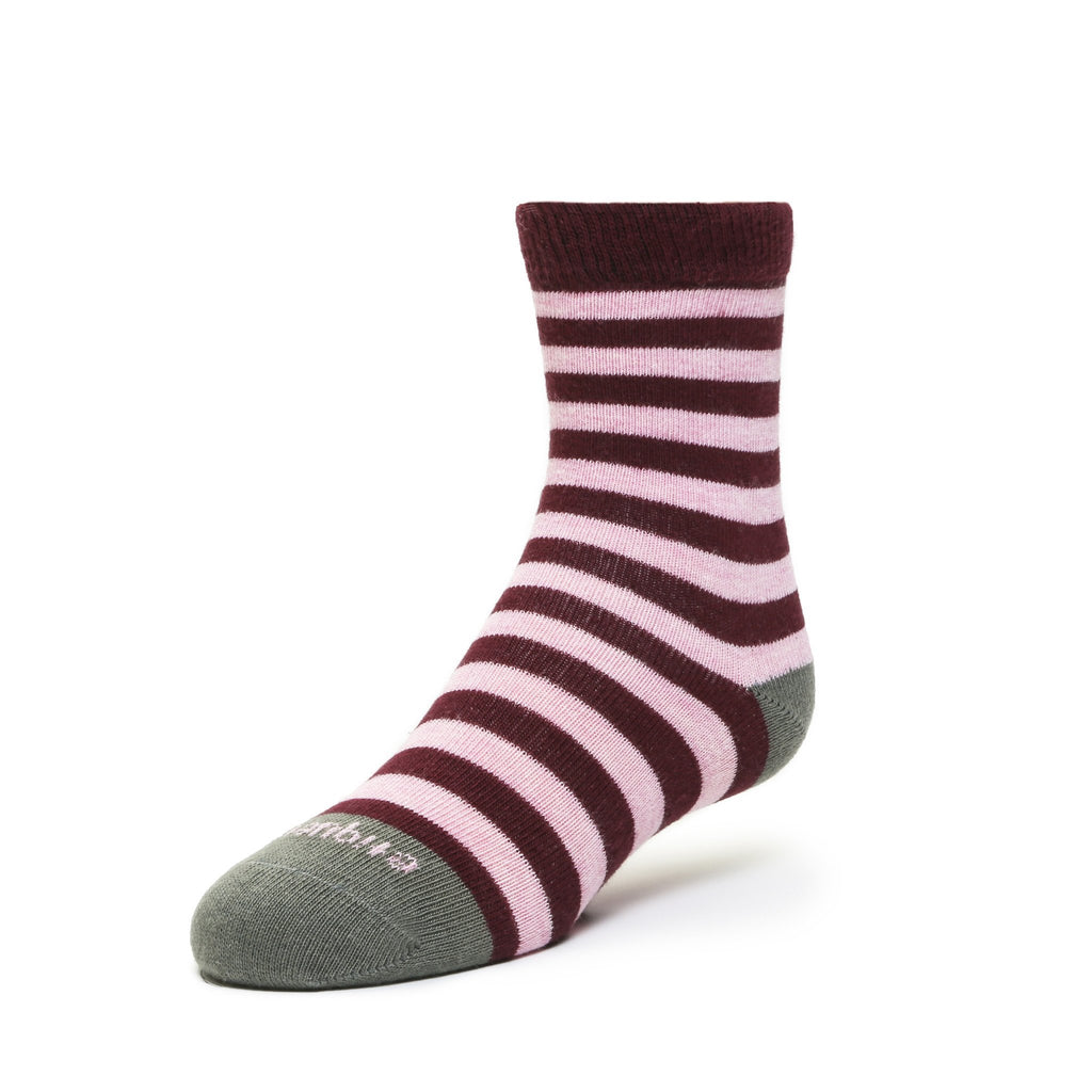 Abbey Stripes - Pink Heather - Kids Socks - Etiquette - global.etiquetteclothiers.com
