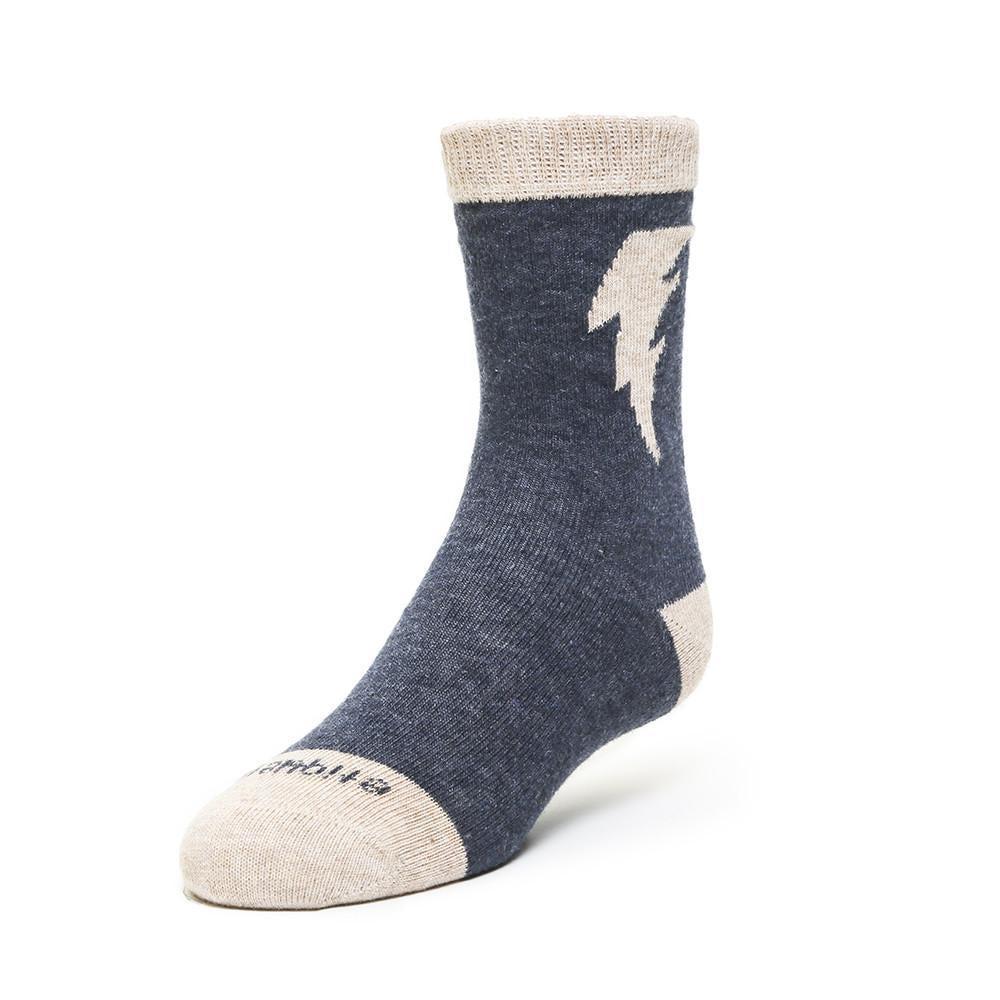 Bolt - Dark Blue Heather - Kids Socks - Etiquette - global.etiquetteclothiers.com