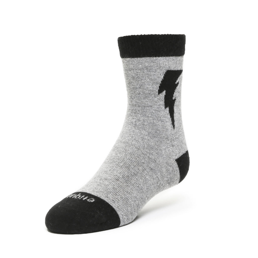 Bolt - Ash Grey Heather - Kids Socks - Etiquette - global.etiquetteclothiers.com