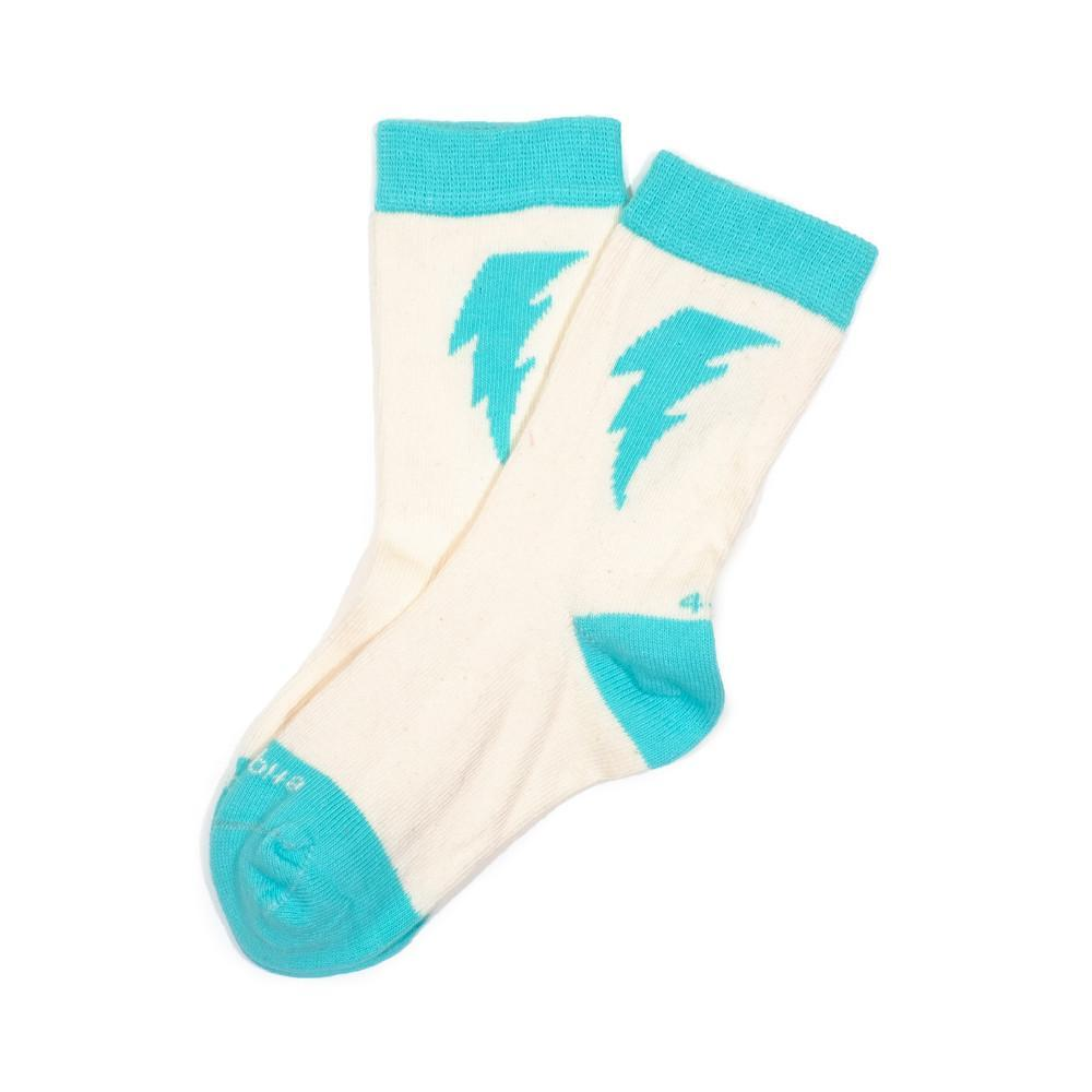 Bolt - Ecru - Kids Socks - Etiquette - global.etiquetteclothiers.com