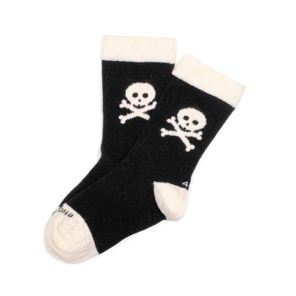 Crossbones - Black - Kids Socks - Etiquette - global.etiquetteclothiers.com