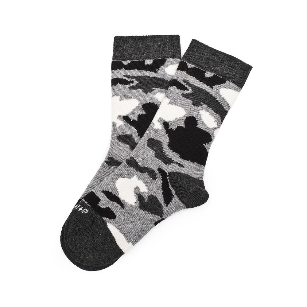 Camouflage - Grey Heather - Kids Socks - Etiquette - global.etiquetteclothiers.com
