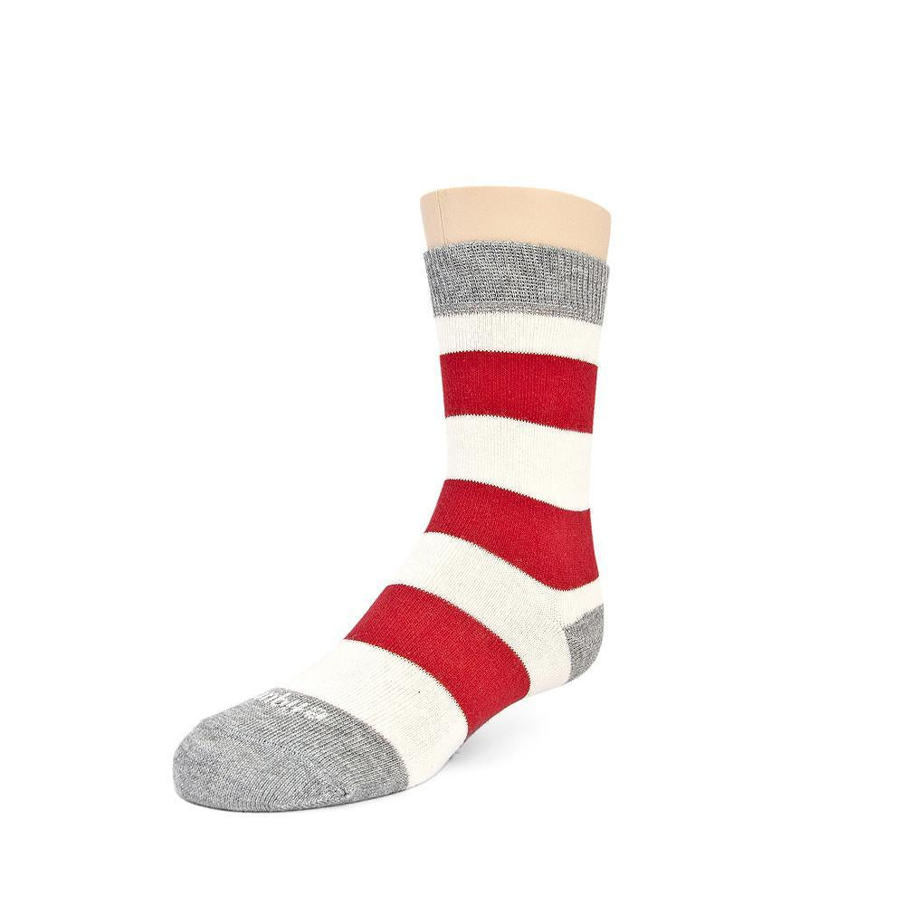 Rugby Stripe - Fire Red - Kids Socks - Etiquette - global.etiquetteclothiers.com