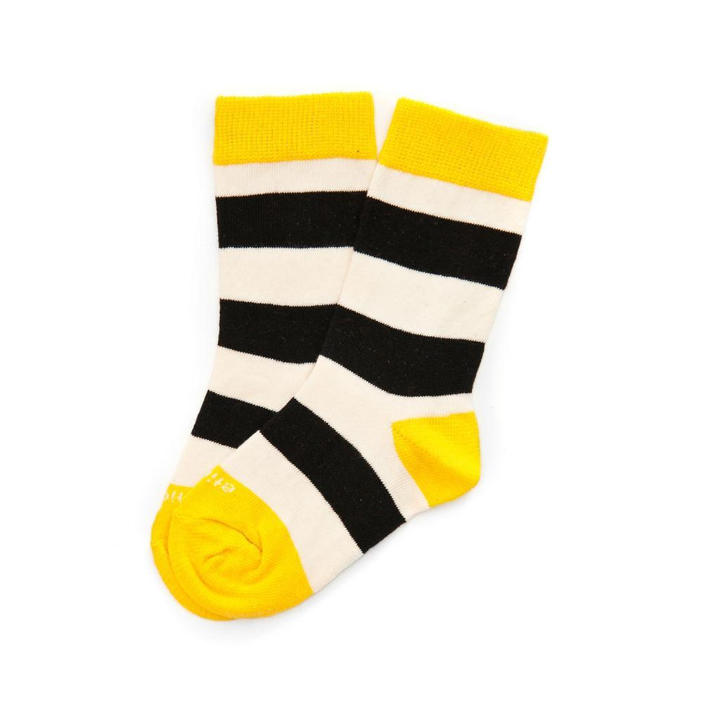 Rugby Stripe - Tux Black - Kids Socks - Etiquette - global.etiquetteclothiers.com