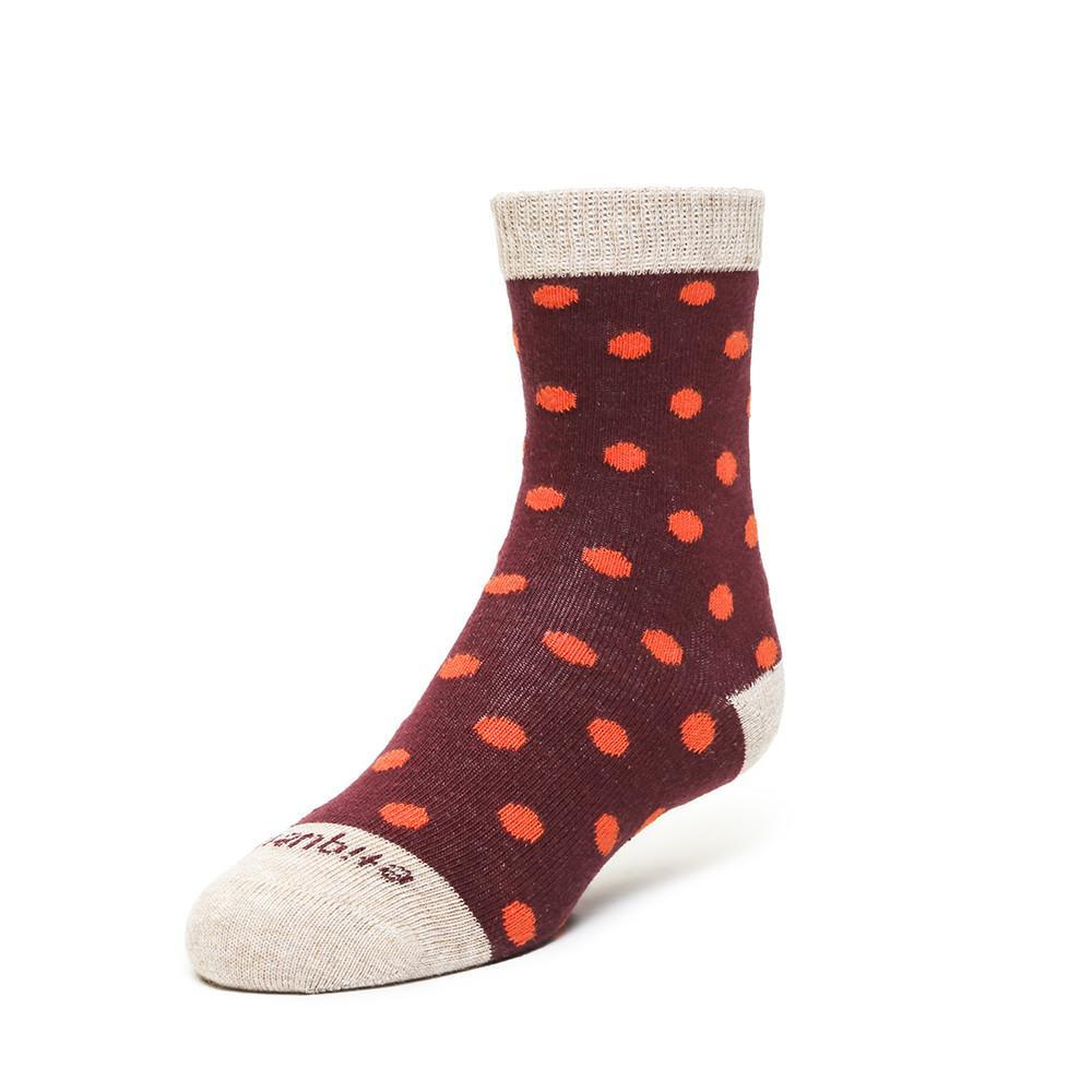 Polka Spots - Bordeaux - Kids Socks | Etiquette Clothiers Global Official