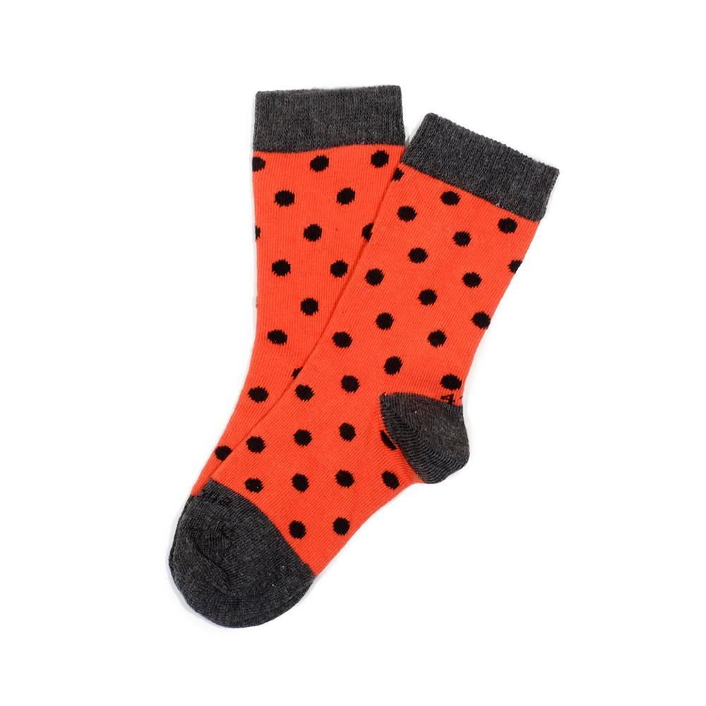 Polka Spots - Rust - Kids Socks | Etiquette Clothiers Global Official