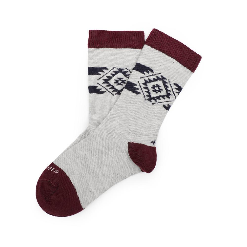 Tribal - Vintage Grey Heather - Kids Socks - Etiquette - global.etiquetteclothiers.com