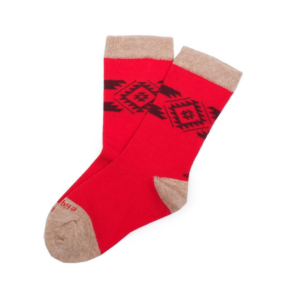 Tribal - Fire Red - Kids Socks | Etiquette Clothiers Global Official