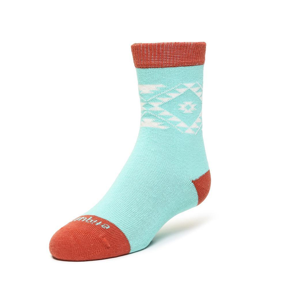 Tribal - Teal - Kids Socks - Etiquette - global.etiquetteclothiers.com