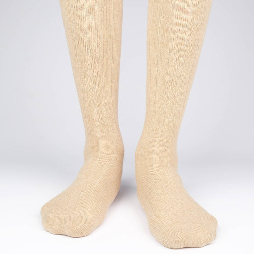 Cashmere Knee High Rib  - Alt view
