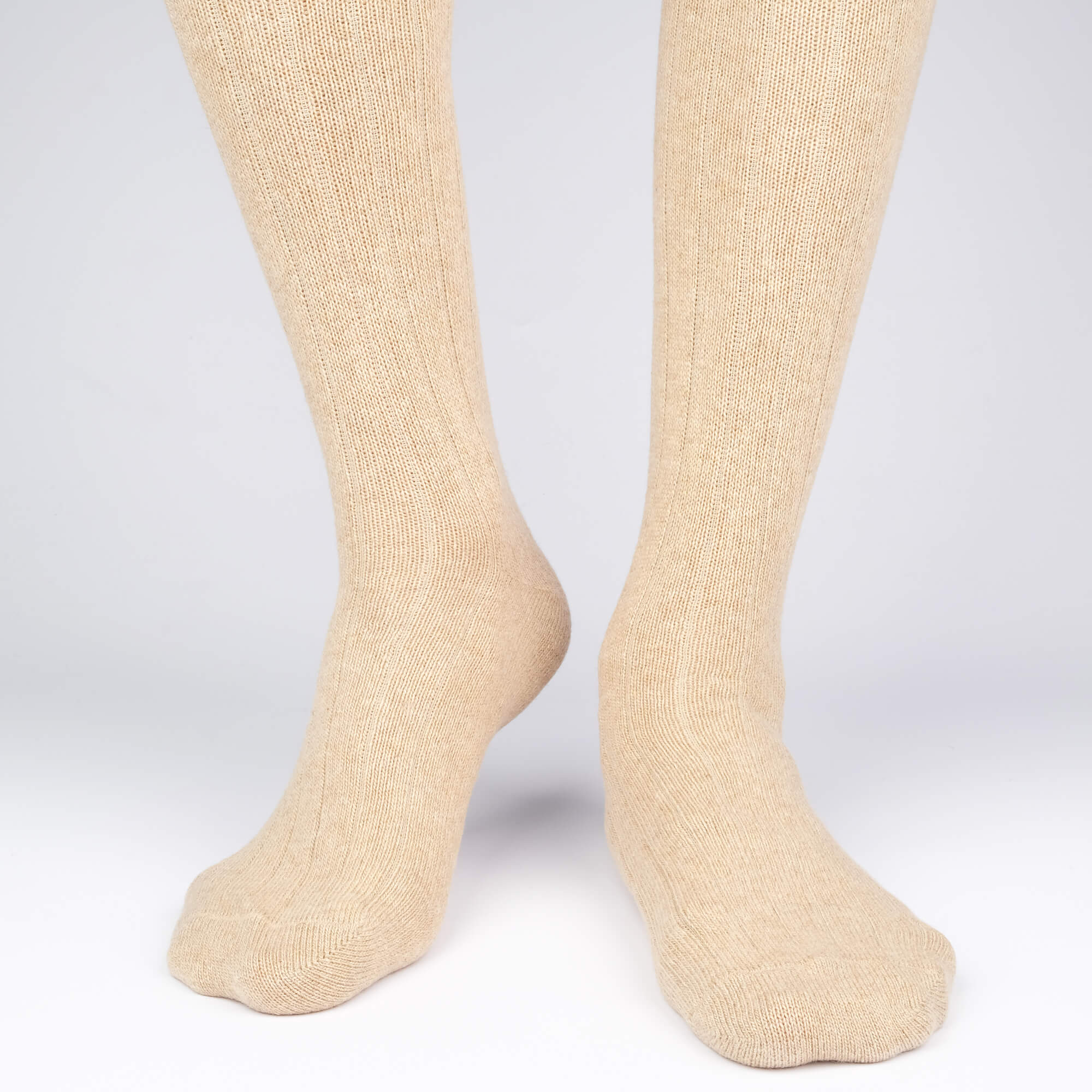 Cashmere Knee High Rib - Brown - Mens Socks | Etiquette Clothiers Global Official