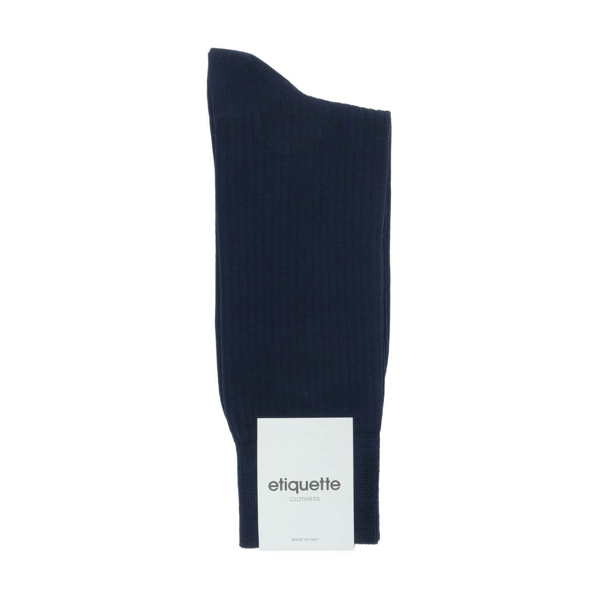 Basic Luxuries Ribbed - Dark Blue - Mens Socks | Etiquette Clothiers Global Official
