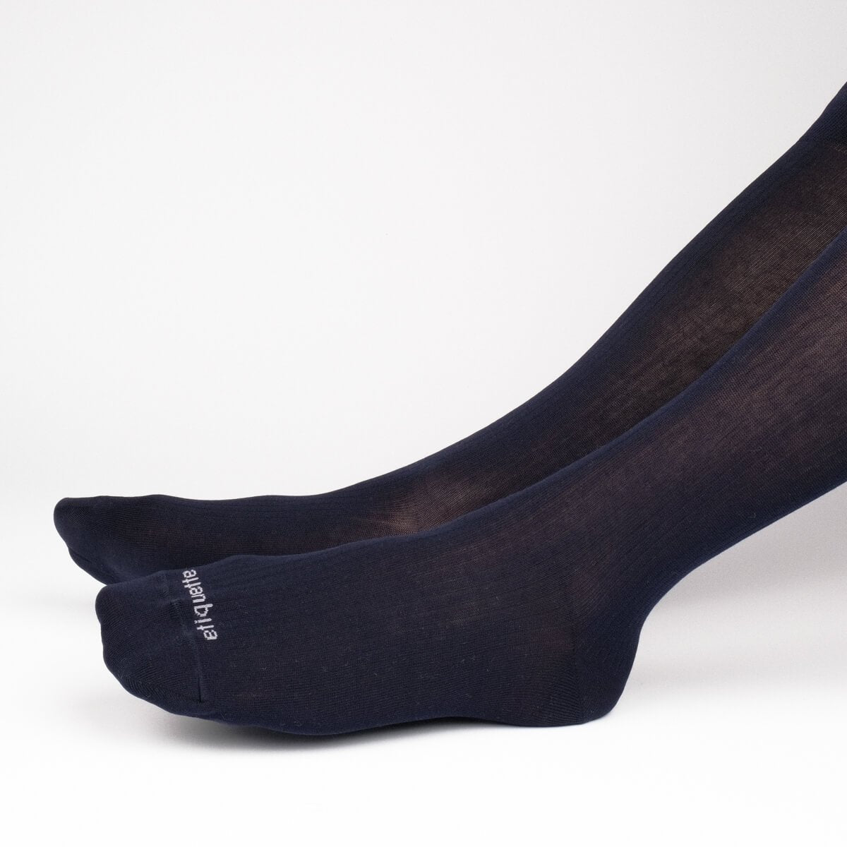 Basic Luxuries Knee High Ribbed - Dark Blue - Mens Socks | Etiquette Clothiers Global Official