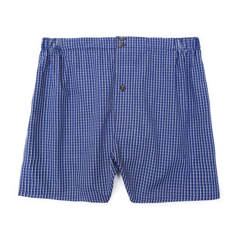 Luxury Boxer Shorts Checker - Dark Blue - Mens Underwear | Etiquette Clothiers Global Official