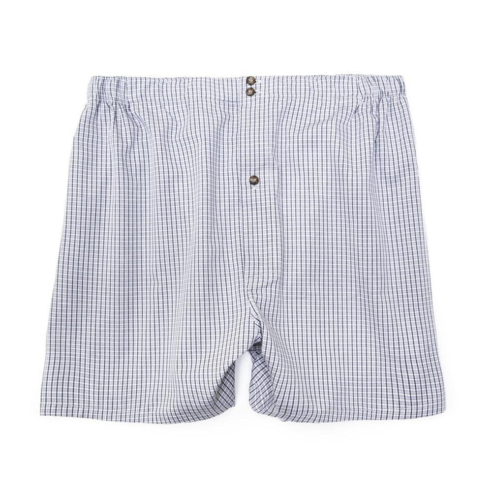 Luxury Boxer Shorts Checker - Navy Grey - Mens Underwear | Etiquette Clothiers Global Official