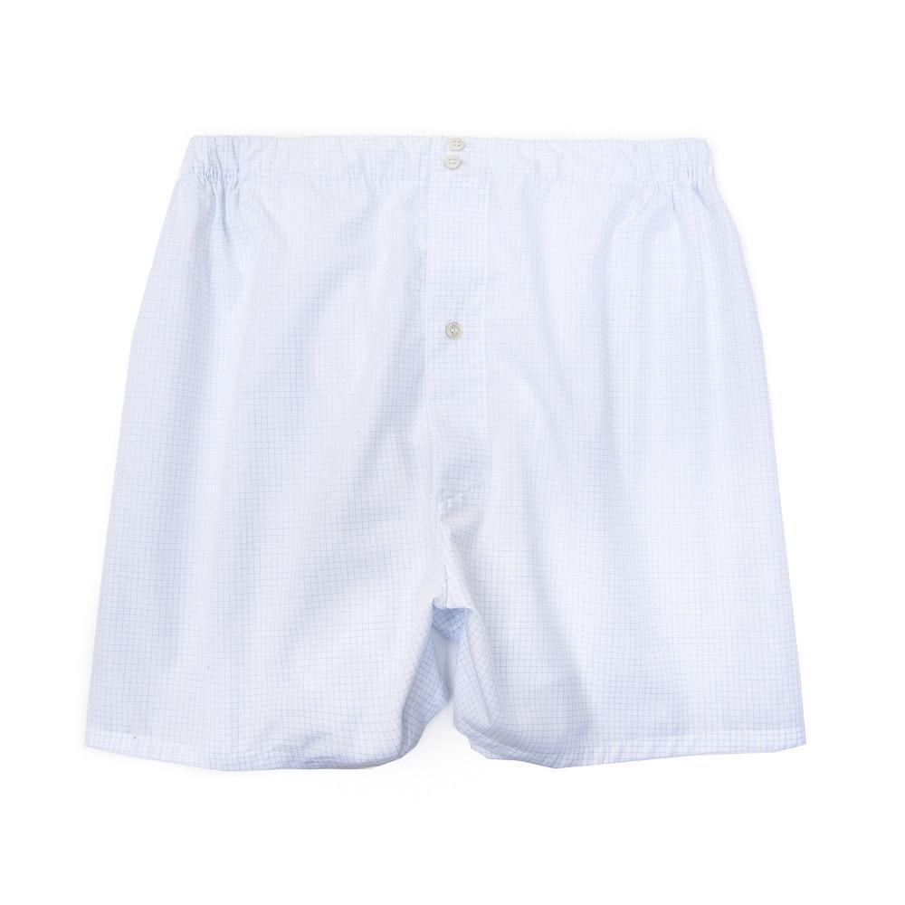 Luxury Boxer Shorts Graph Check - Blue - Image 1