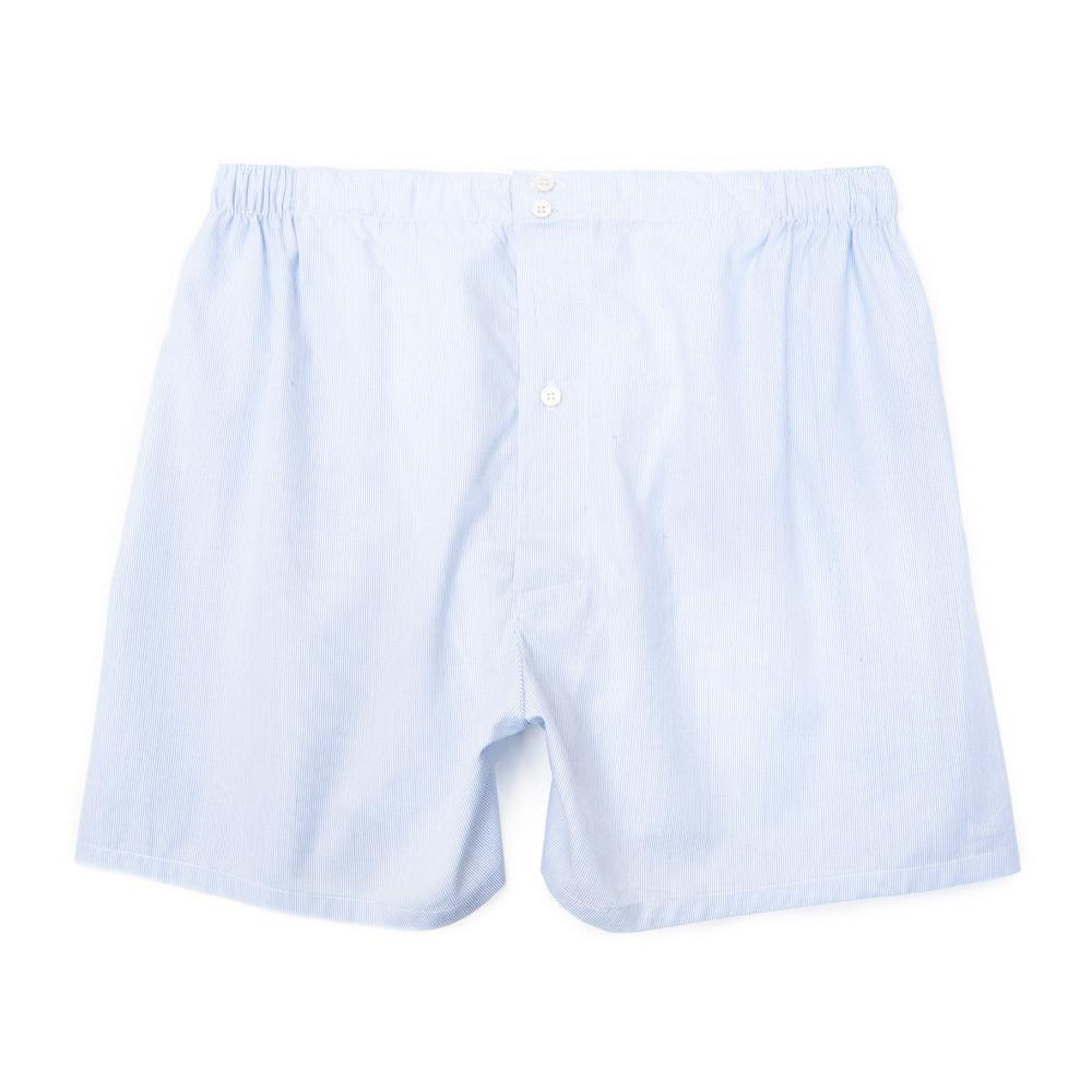 Luxury Boxer Shorts Fine Lines - Blue - Image 1