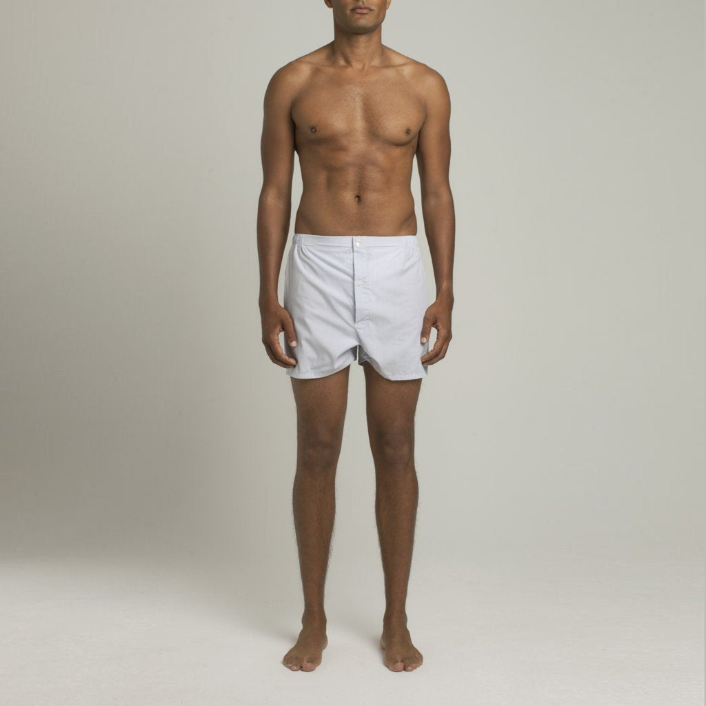 Luxury Boxer Shorts Fine Lines - Blue - Image 2