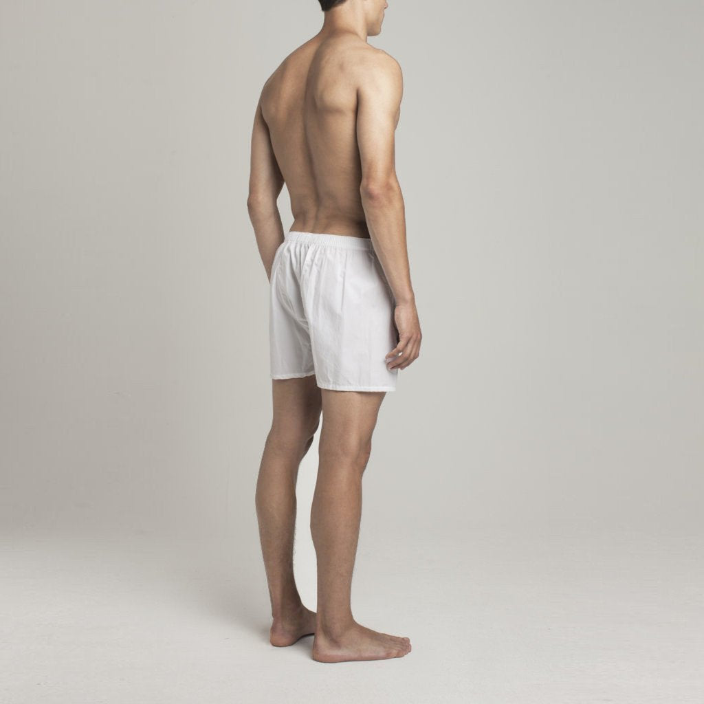 Luxury Boxer Shorts - Snow White - Mens Underwear | Etiquette Clothiers Global Official