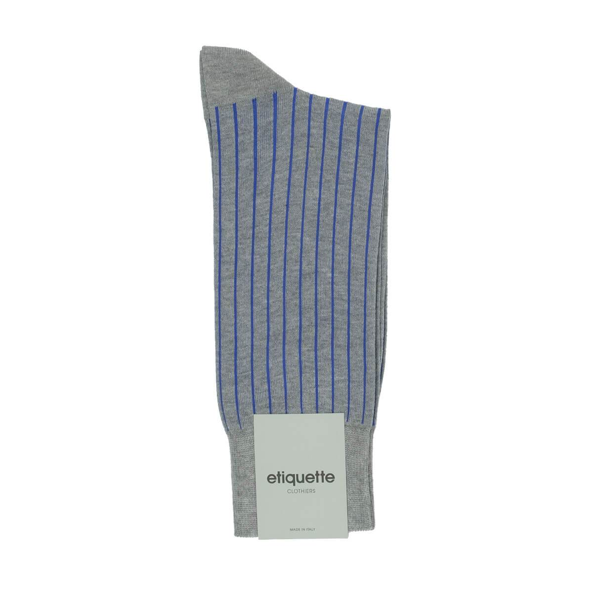 Royal Ribs - Grey - Mens Socks | Etiquette Clothiers Global Official