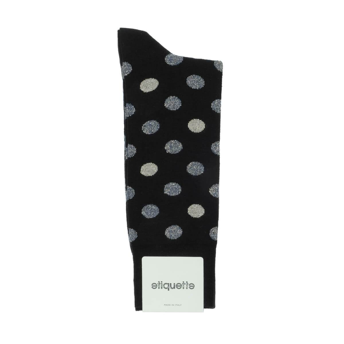 Beat It Metallic Dots - Black - Mens Socks | Etiquette Clothiers Global Official