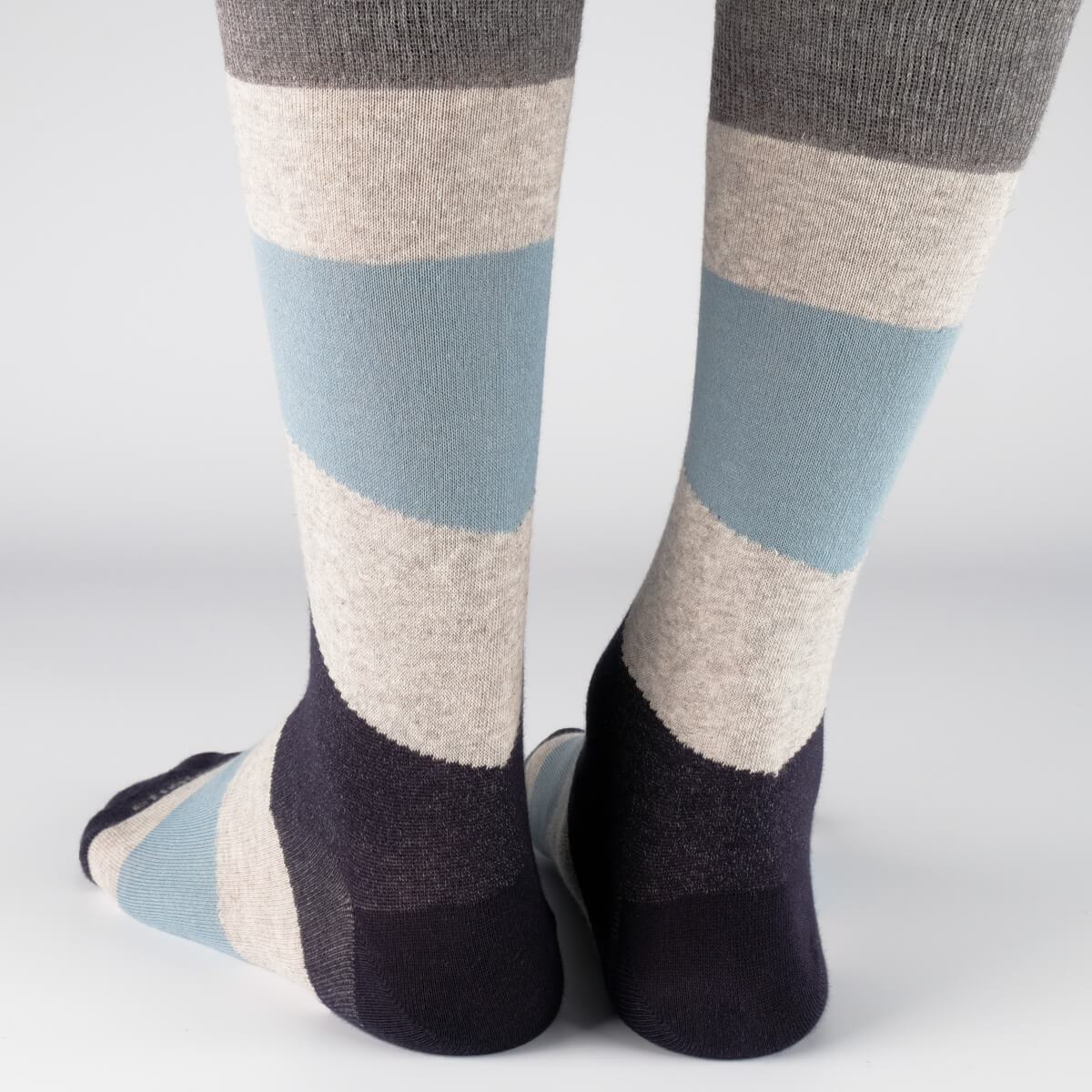Comporta Stripes - Grey - Mens Socks | Etiquette Clothiers Global Official
