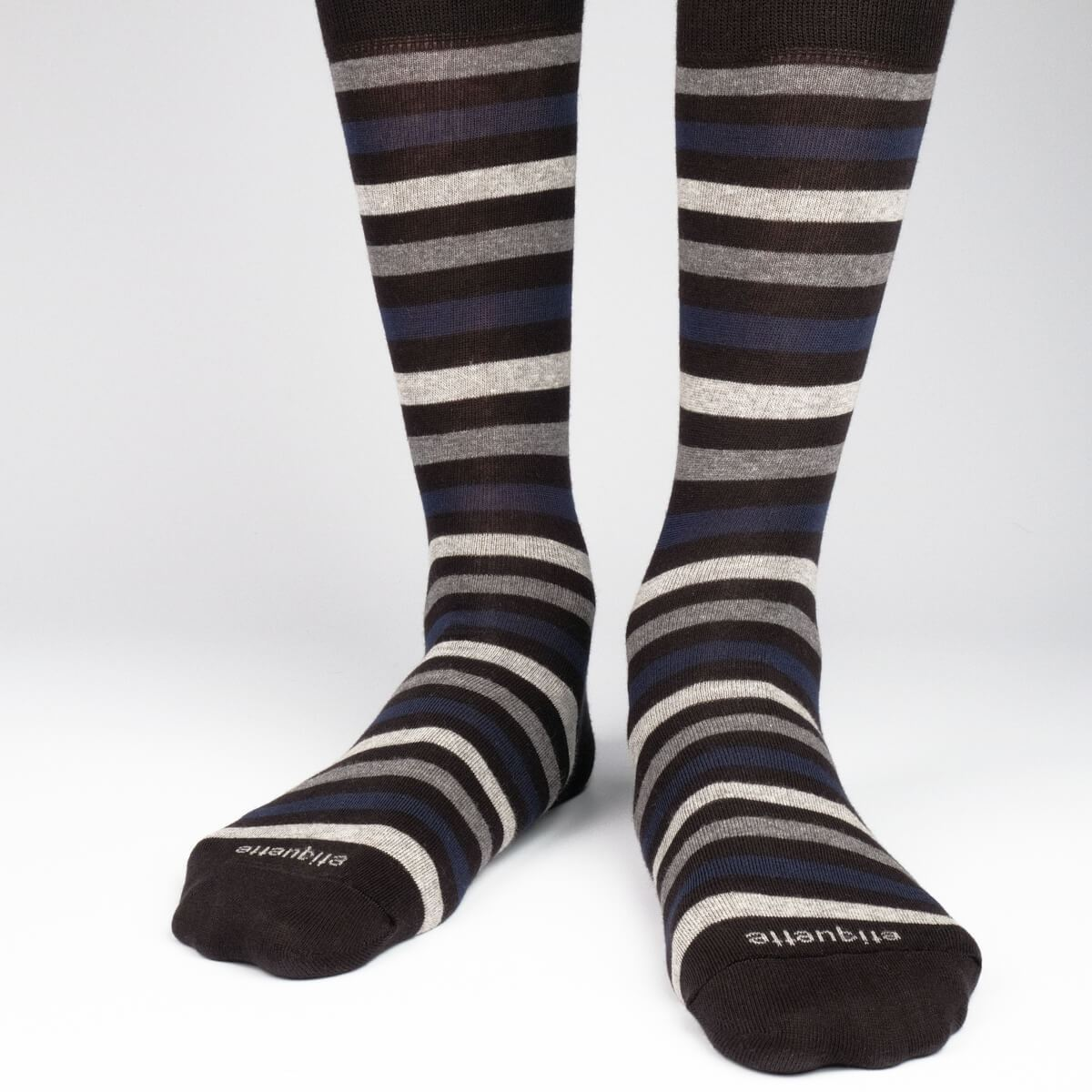 Crosswalk Stripes - Black - Mens Socks | Etiquette Clothiers Global Official