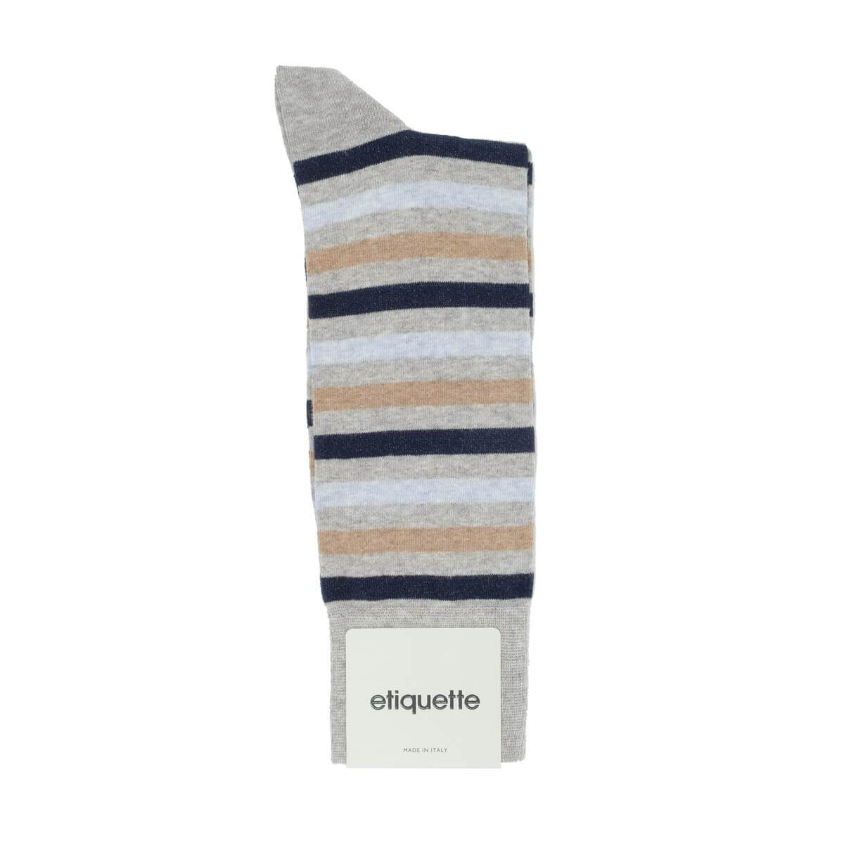 Crosswalk Stripes - Grey - Mens Socks | Etiquette Clothiers Global Official