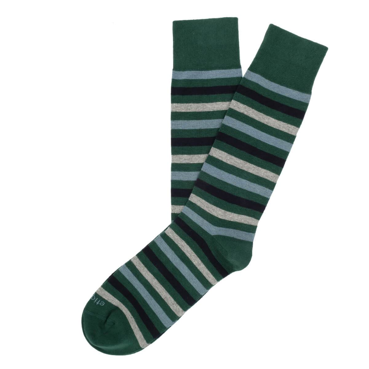 Crosswalk Stripes - Green - Mens Socks | Etiquette Clothiers Global Official