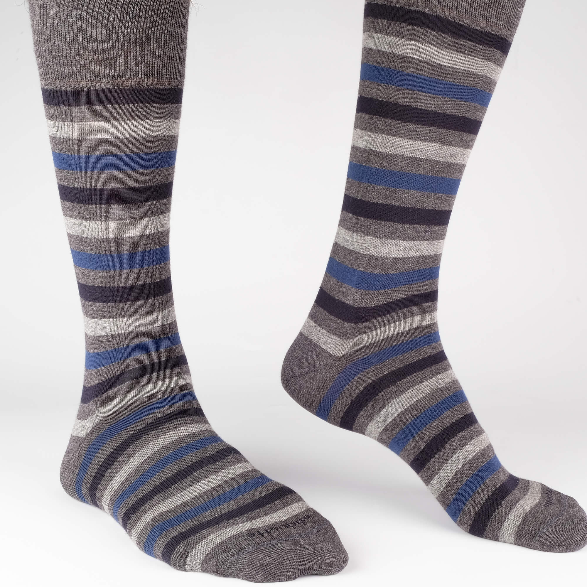 Crosswalk Stripes Men's Socks - Grey