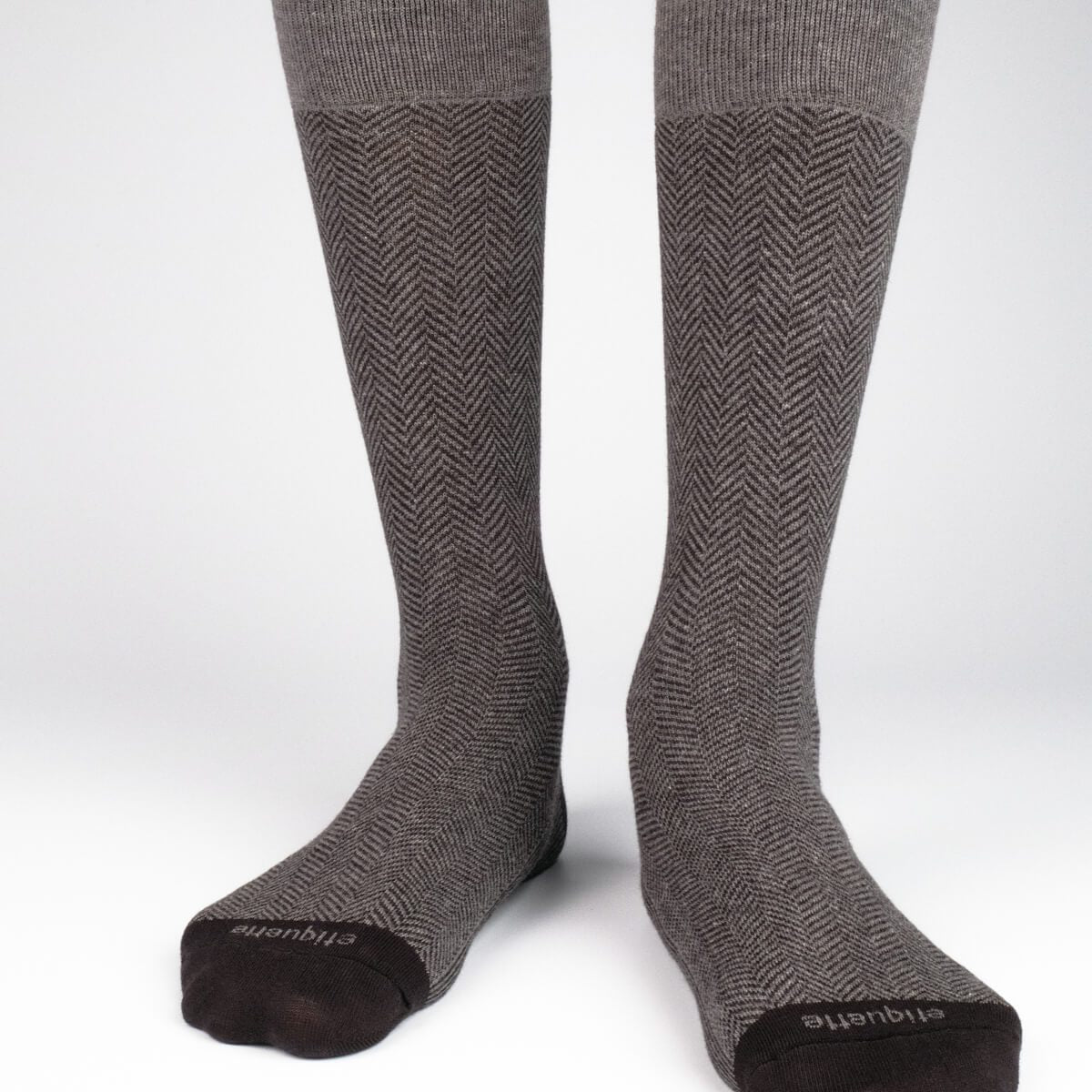 Herring With A Bone - Grey - Mens Socks | Etiquette Clothiers Global Official