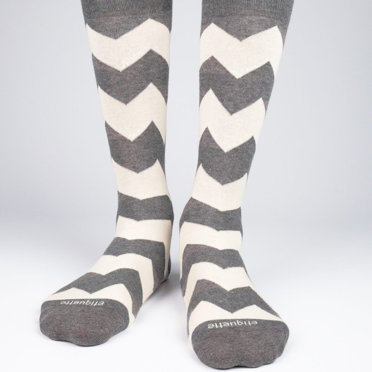 Matterhorn Stripes - Dark Grey - Mens Socks | Etiquette Clothiers Global Official