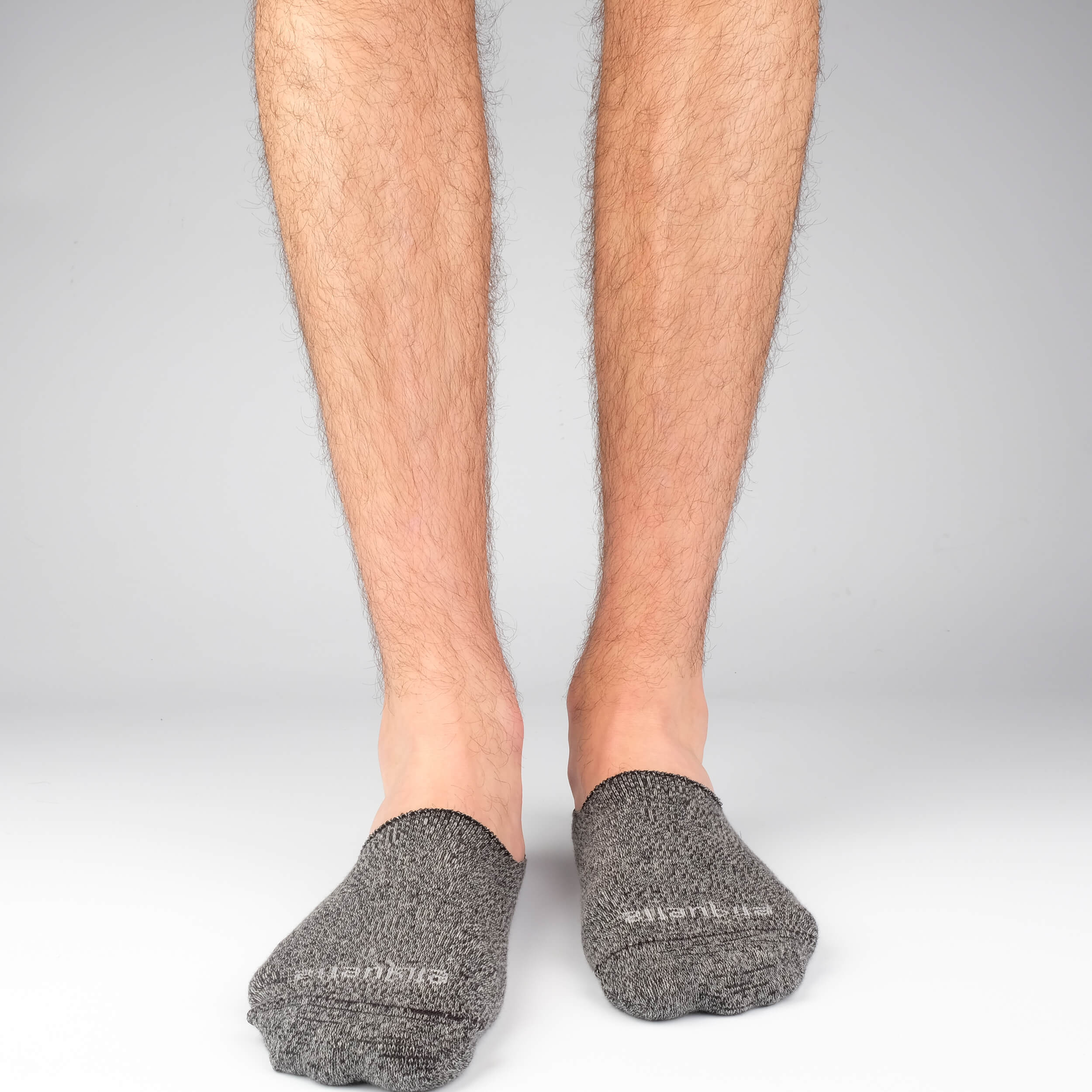 Men's No Show Socks - Mouline Grey